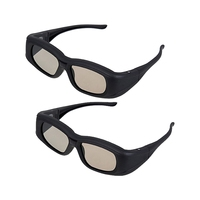 2 X Universal 3D Active Shutter Glasses Bluetooth For Sony Panasonic Sharp Toshiba Mitsubishi Samsung 3DTV