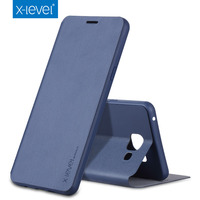 X Level Phone Case For Samsung Galaxy J5 J500F TPU Inside Classic Ultra Thin Clamshell Leather