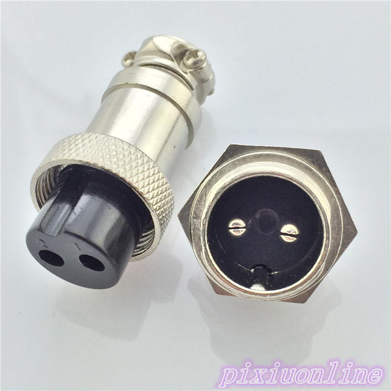 1set GX16 2 Pin Male Female L70Y Diameter 16mm Circular Connector Aviation Socket Plug Wire Panel Connector High Quality On Sale