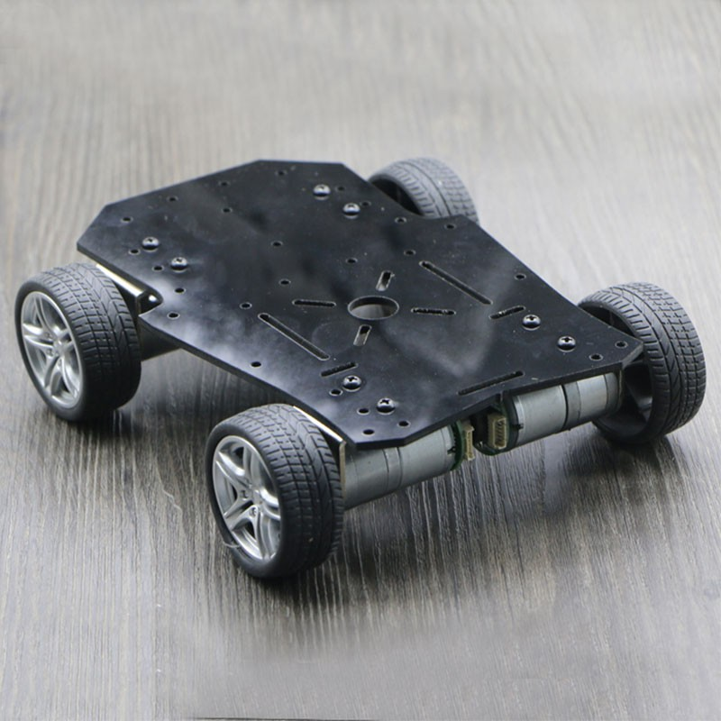 2018 New 4WD Smart RC Car Chassis with Motors Encoder Max. Load 2.5kg For Arduino Platform цена