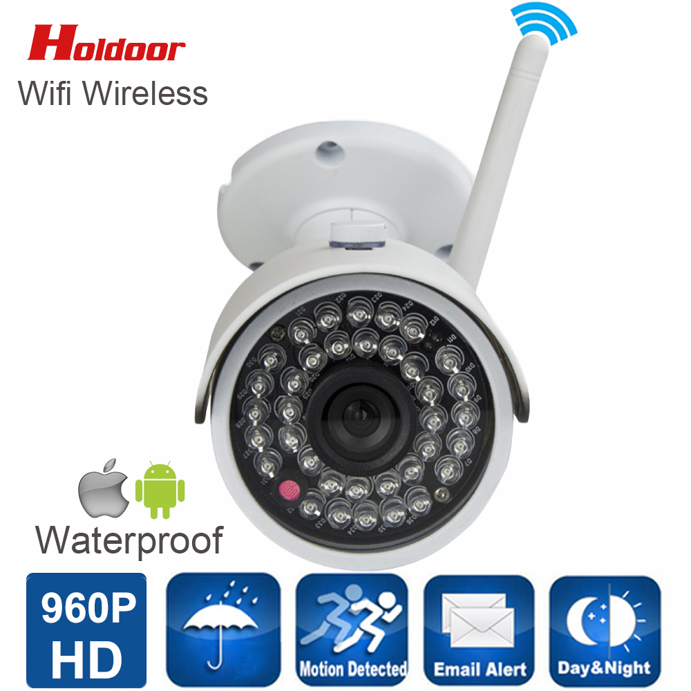 ФОТО IP camera WIFI Megapixel 960P HD Outdoor Wireless Security CCTV Cam IR Infrared SD Card Slot P2P Bullet Kamera With SD Card Slot