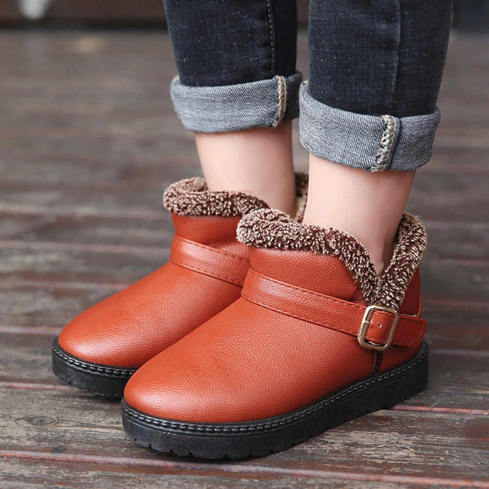 เด็กรองเท้าเด็กฤดูใบไม้ร่วงฤดูหนาวแฟชั่นอบอุ่นเด็ก Martin เด็กนักเรียนหญิง Snow Boots mini melissa zapatos modis
