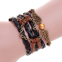 Leather bracelet men silver love heart charm bracelet femme pulseras hombre pulseira masculina bracelets for women