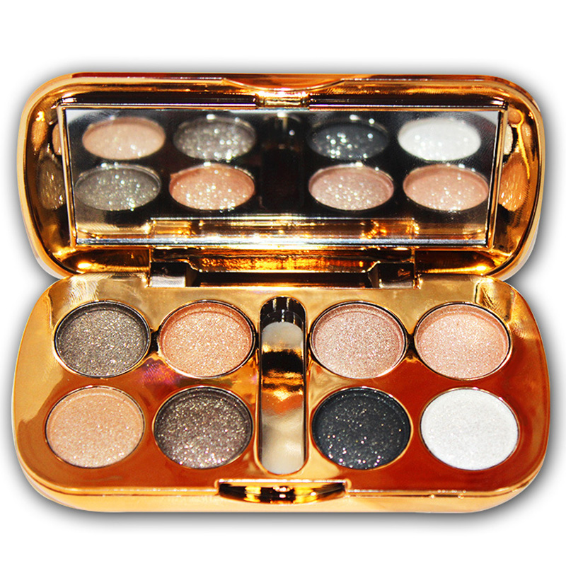 High Qual Glitter Eyeshadow With Brush Face Makeup Cosmetics Shiny Eye Shadow Palette 8 Colors Eyeshadow For Makeup 88 SK88
