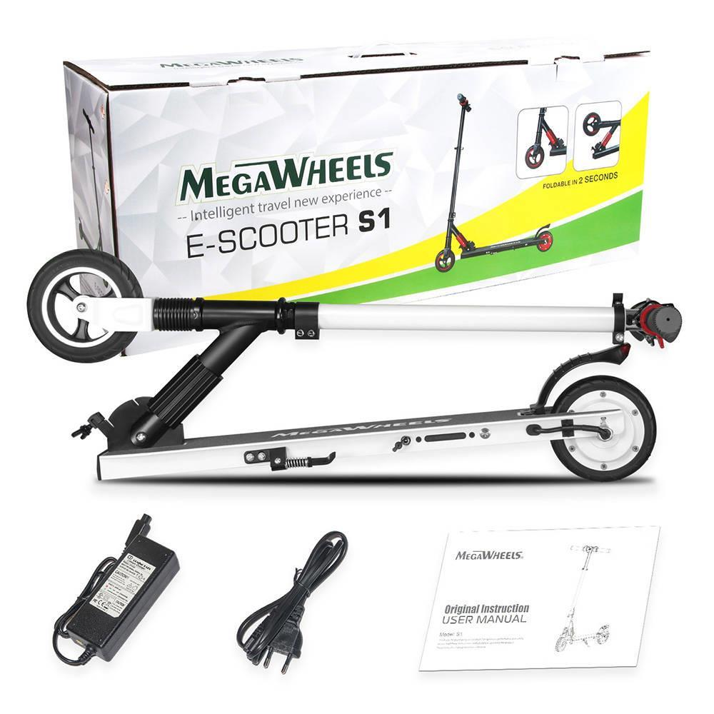 US $277 49 |Megawheels S1 2 Portable Folding Electric Scooter 250W Motor  23km/h Micro Electronic Braking System Suit for adults teenager-in Electric