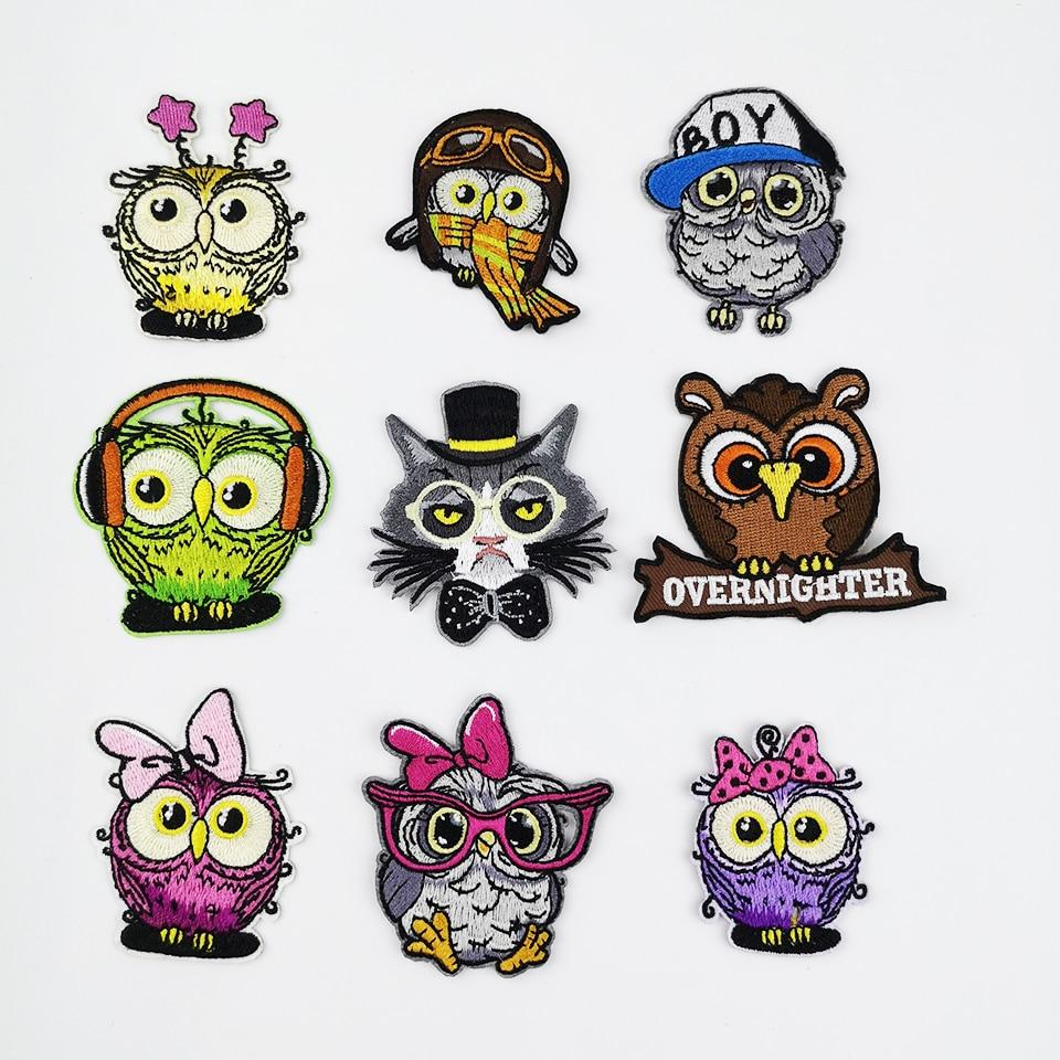 Owl Bird Patch Embroidered Cartoon Iron Patches Garment