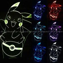Pokemon go 1pec set lamp 7 color changing visual illusion LED lamp 2016 fashion toy Pokemon