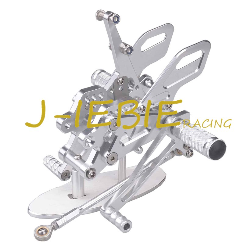 CNC Racing Rearset Adjustable Rear Sets Foot pegs Fit For Kawasaki NINJA ZX10R 2004 2005 SILVER morais r the hundred foot journey