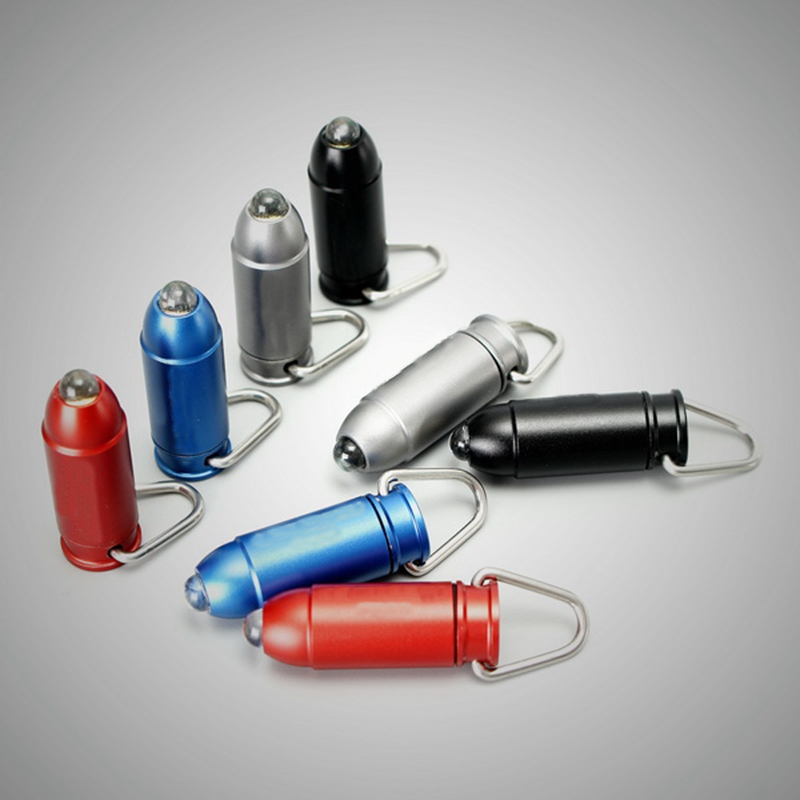 Jiguoor TB-01 Bullet Aluminium Alloy 45LM Mini LED Keychain Flashlight led light mini camping key chain torch+3 x LR41 battery