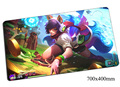 Ahri mouse pad Nine-Tailed Fox gaming mousepad gear lol gamer mouse mat pad game computer 700x400x2mm padmouse  photo play mats