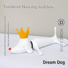 Get more info on the Yoshitomo Nara Dreaming Dog Resin Table Piece Home Decoration Accessories House Decor   Animal Sulpture