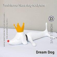 Yoshitomo Nara Dreaming Dog Resin Table Piece Home Decoration Accessories House Decor  Animal Sulpture
