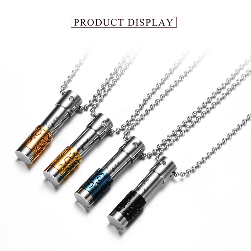 10PCS Lot Stainless Steel Essential Oil Diffuser Necklaces Silver Perfume Bottle Necklace Pendant for Women Collier