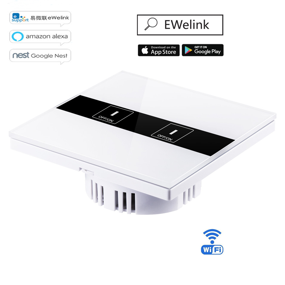 Eruiklink Smart Wifi App Touch Control Wall Light Switch 2 Gang 1 Switchmate39 Lets You Run From Your Phone Without Rewiring Wifiapp Way