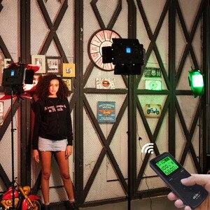 """Image 5 - VILTROX 2/3 VL S192T Đèn LED Video Bi Màu Mờ Từ Xa Không Dây Bảng Điều Khiển Chiếu Sáng + Tặng 75 """"Giá Đỡ Cho Chụp Studio"""