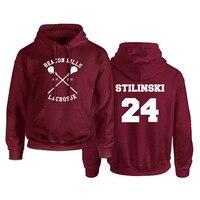 Teen Wolf Hoodies Men Sweatshirt Hip Hop Fleece Pullover Red Stilinski Printed Mens Hoodie Streetwear Male