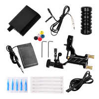 Tattoo Machine Set Black Power Supply Completed Tattoo Kit Professional Rotary Maquina De Tatuagem Needles Grip Clip Cord