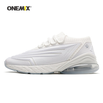 Onemix Woman Running Shoes For Women White Max Gym Athletic Sneakers Aircraft Sports Outdoor Jogging Walking Trekking Trainers
