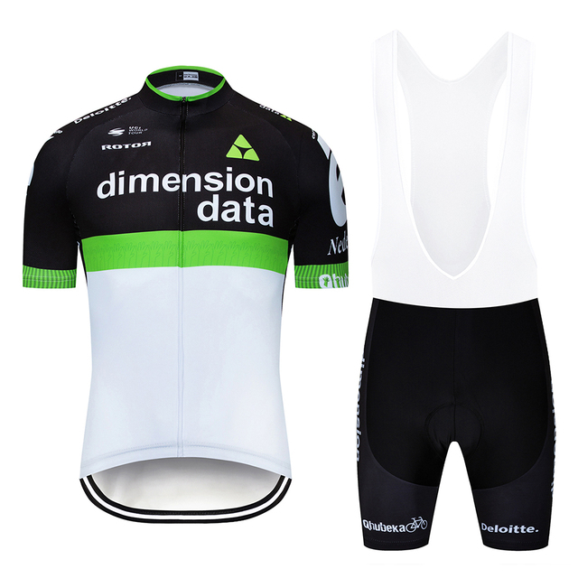 2019 Pro Team Dimension Data Cycling Jersey Set Short Sleeve Summer Bike  Wear For Men 12D GEL Padded Bib Shorts Cycle Kit d77ece01a