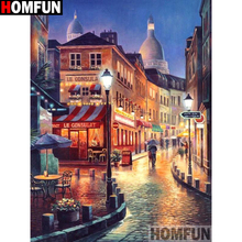 HOMFUN Full Square/Round Drill 5D DIY Diamond Painting Street house 3D Embroidery Cross Stitch 5D Home Decor A13366 homfun full square round drill 5d diy diamond painting house landscape embroidery cross stitch 3d home decor gift a13366