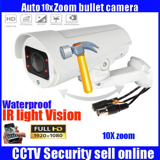 4in1 1080P 2MP Full HD Bullet Camera PTZ 4X 10X Motorized Zoom AUTO FOCUS Varifocal Outdoor  camera security camera bullet camera tube camera headset holder with varied size in diameter