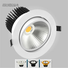 Brightness Dimmable Led Downlight COB 7W 10W 15W 20W Ceiling lamp AC110/220V Recessed Down light