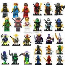 Hot compatível LegoINGlys NinjagoINGlys Conjunto Nya Lloyd Cole Jay Kai Zane NINJA figuras blocos de Construção Com arma Brinquedos presente