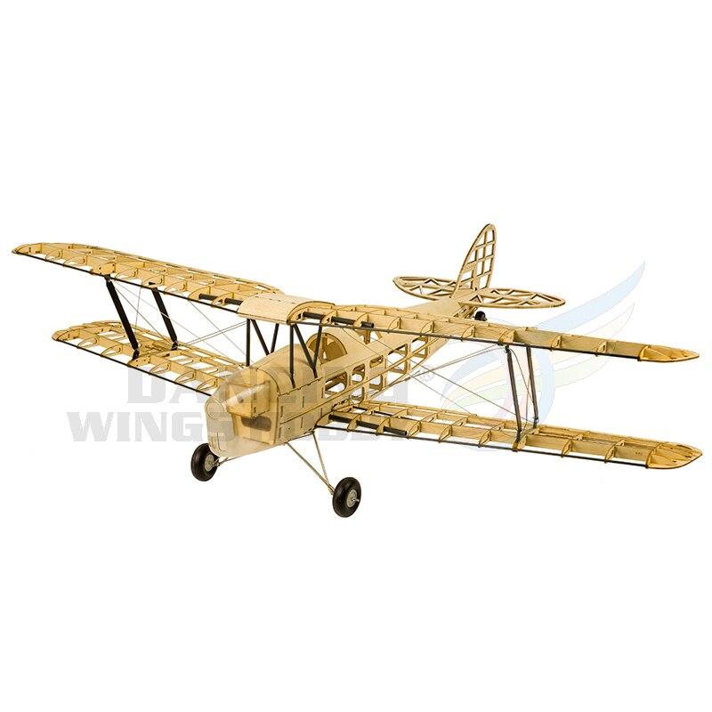 Upgrade Mini Tiger Moth Balsa Wood Model Aircraft Electric