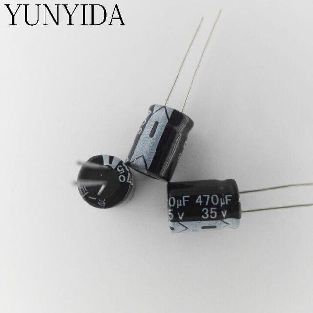 Alüminyum elektrolitik kondansatör 35V470UF 470 UF 35 V 20 ADET