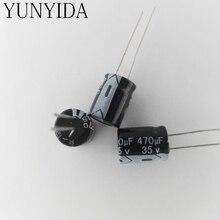 Aluminum electrolytic capacitor 35V470UF  470UF 35V   20PCS