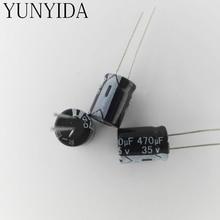 อลูมิเนียมe lectrolytic c apacitor 35V470UF 470ยูเอฟ35โวลต์20ชิ้น