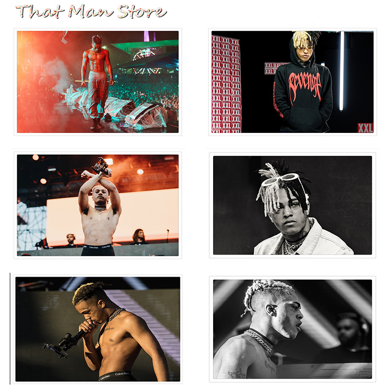 Posters And Prints XXXTentacion Jahseh Dwayne Onfroy Rapper Singer Poster Wall Pictures For Living Room Art Painting 42*30cm