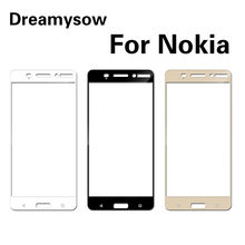 Full Cover Tempered Glass For Nokia 6 5 3 8 7 2 Toughened Glass For Nokia6 X5 5.1 3.1 2.1 X6 1 Explosion Proof Screen Protector(China)