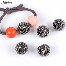 Fashion Jewelry DiamondShape Ball DIY Beads Self-made Grey Creative Girl Kids Head Rope Drilling Hair Ring Accessory