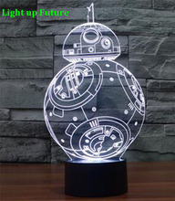 new model 3D visual led night light RGB changable star wars  table decor lamp N1273