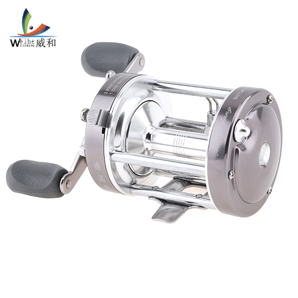 Full Metal Drum Fishing Reel Centrifugal Mechanical Dual Braking System 60# 2+1 BB Trolling Casting Sea Boat Left Right Wheel