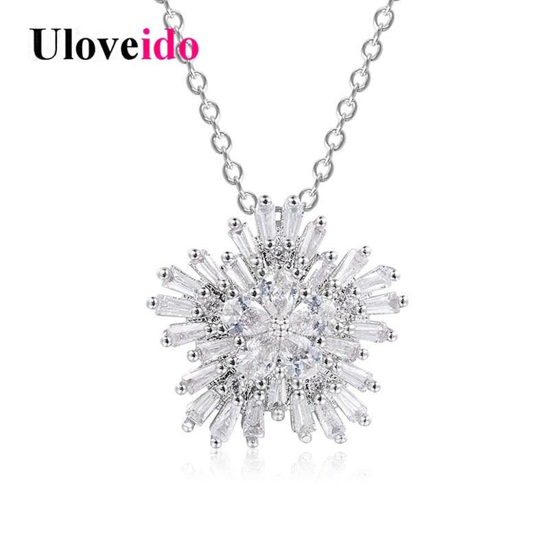 Uloveido Necklaces & Pendants Snowflake