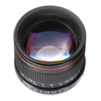85mm F/1.8 MF Manual Focus Portrait Lens for Nikon D7200 D7500 D5300 D5600 D3400 D750 D90 Camera