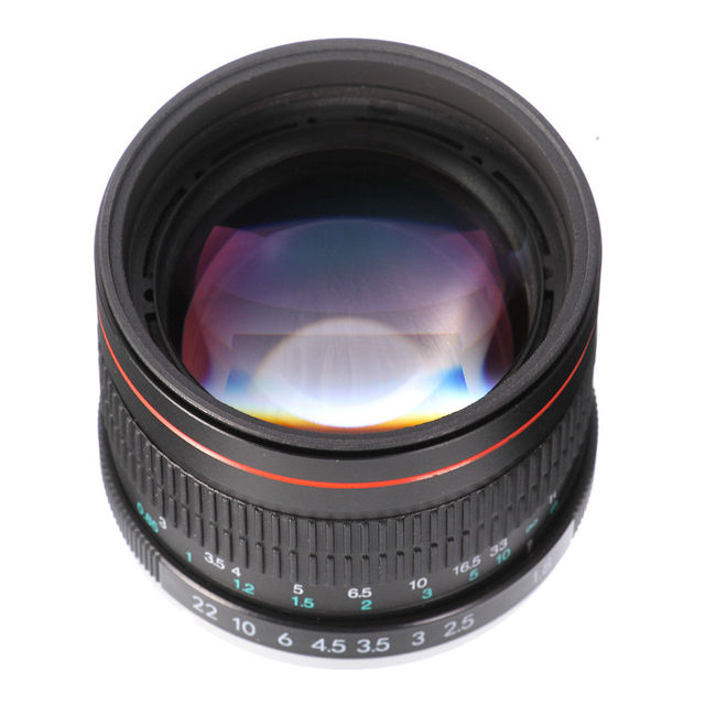 US $133 55 16% OFF|85mm F/1 8 MF Manual Focus Portrait Lens for Nikon D7200  D7500 D5300 D5600 D3400 D750 D90 Camera -in Camera Lens from Consumer