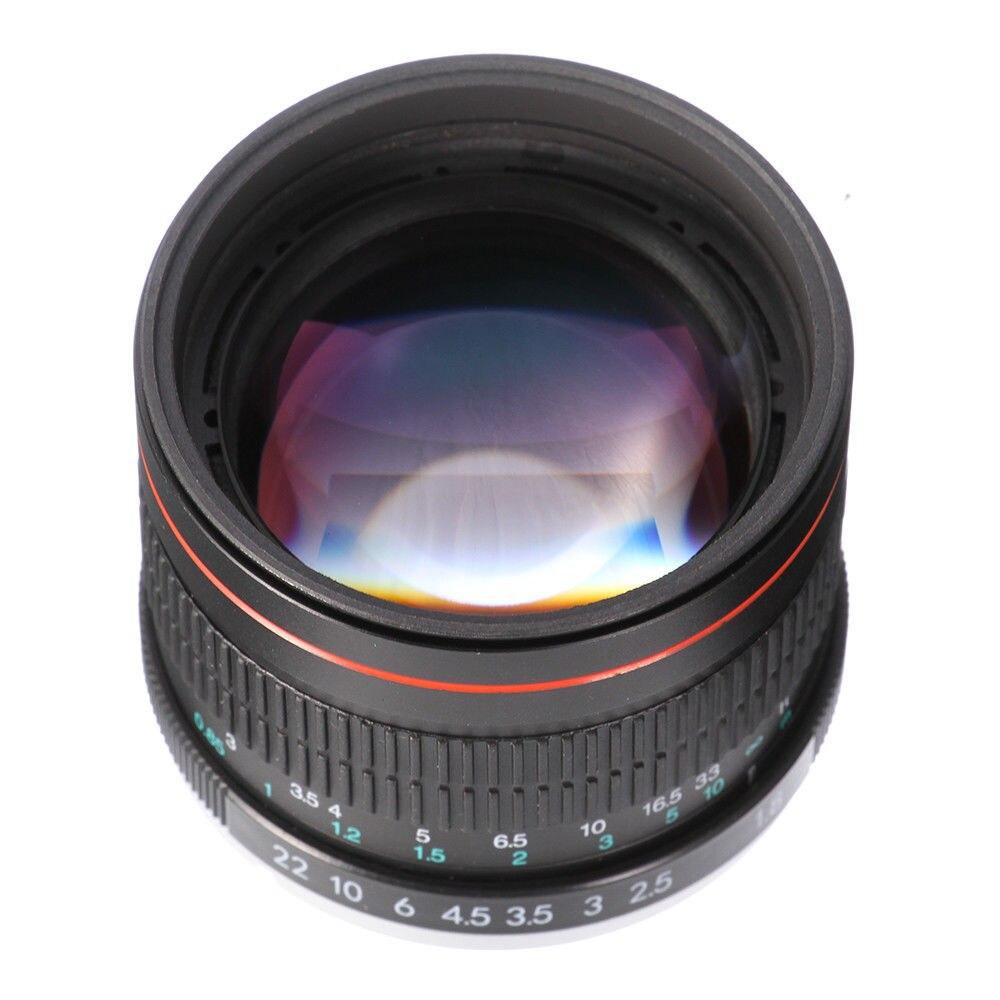 Objectif Portrait 85mm F/1.8 MF à mise au point manuelle pour Nikon D7200 D7500 D5300 D5600 D3400 D750 D90