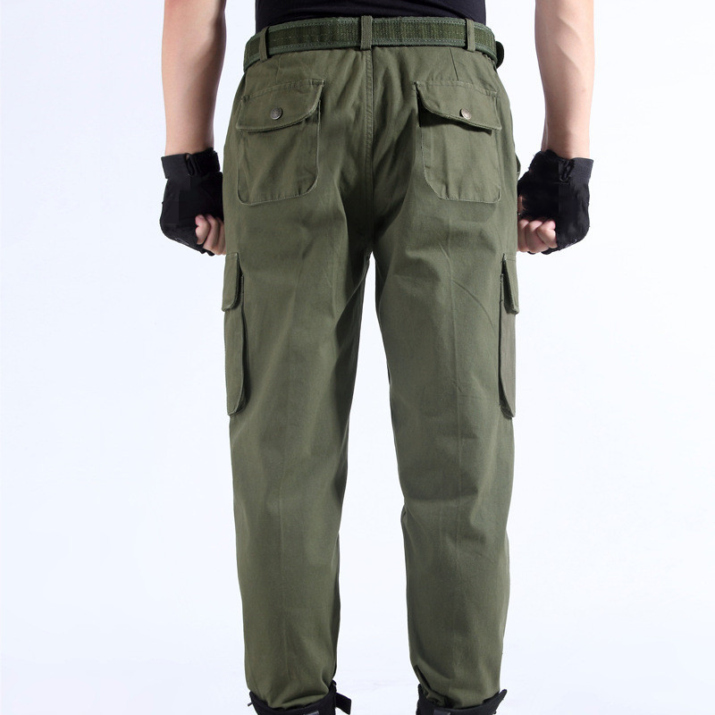 Work Pants Men's Auto Repair Labor Insurance Welding Factory Work Clothes Anti-fouling Trouser Cotton Safety Clothing Pants Wear