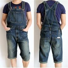 2015 New Men's Denim Overalls, Men Siamese Jeans, Men's Overalls Shorts, Denim Bib Plus Size S,M,L,XL,2XL,3XL,4XL
