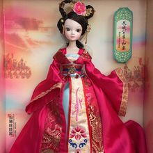 D0708 In box Best children girl gift 30cm Kurhn Chinese Doll Chinese myth Gift Traditional toy Princess wencheng wedding dress