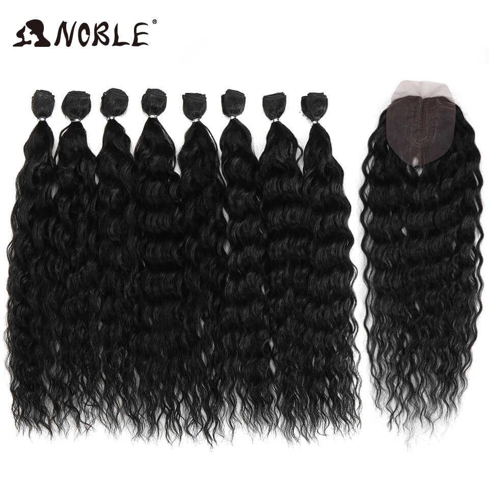 Благородные синтетические волосы для тела 20-24 дюймов 8 шт./партия афро кудрявые вьющиеся волосы пучки волос от светлого до темного цвета волосы удлиняющие синтетические волосы волна