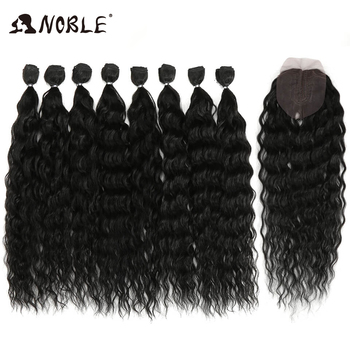 Noble Synthetic Hair Body Weave 20-24 Inch 8pcs/lot Afro Kinky Curly Hair Ombre Bundles Hair Extension Synthetic Hair Wave