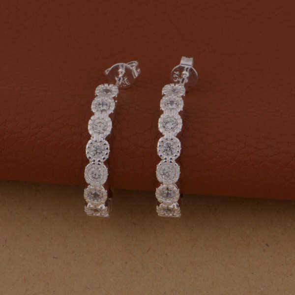 כסף סיטונאי מצופה תכשיטים errrings אנחנו-921