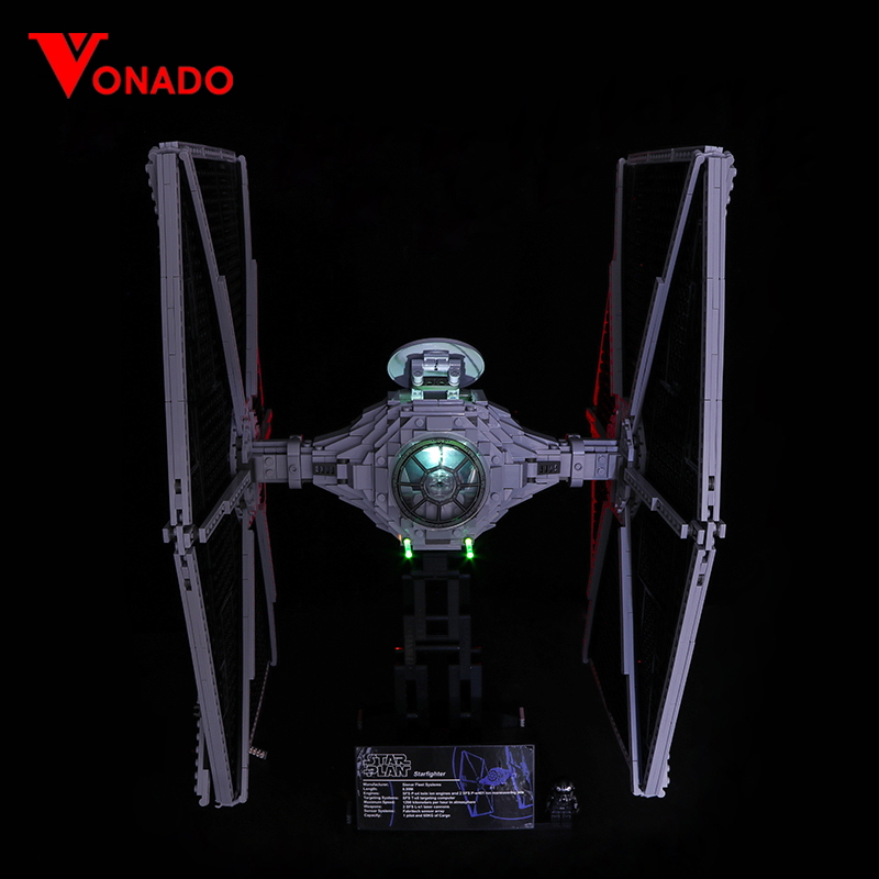 LED Light For Lego 75095 Compatible 05036 Star Wars UCS TIE Fighter Building Blocks Bricks Toys (only Light With Battery Box)