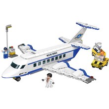 XINGBAO 16003 NEW Space Exploration Large Passenger Aircraft Aerospace Model MOC Building Blocks Bricks With Logo Boy Gift Toys