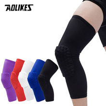 AOLIKES 1PCS Basketball Knee Pads Sleeve Honeycomb Brace Elastic Kneepad Protective Gear Patella Foam Support Volleyball Support(China)