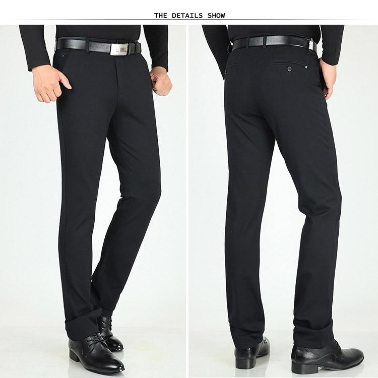 HTB1N39mX0fvK1RjSspfq6zzXFXao Classic Pants Men Suit Dress Casual Pants Men Straight Fit Business Work Office Formal Pants Big Size Autumn Men's Trousers Male